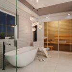 łazienka z sauną - projekt