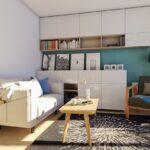 ciepły i praktyczny projekt salonu