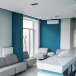 wnętrz kliniki przy recepcji