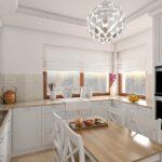 ładna skromna kuchnia w projekcie abrys